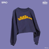 SPAO Woman Long Sleeve Alice Crop Pullover SPMBA12G01 Navy