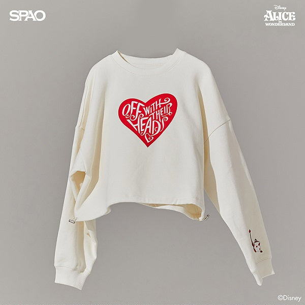 SPAO Woman Long Sleeve Alice Crop Pullover SPMBA12G01 Cream