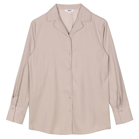 SPAO Woman Long Sleeve Open Collar Blouse SPBW94TG65