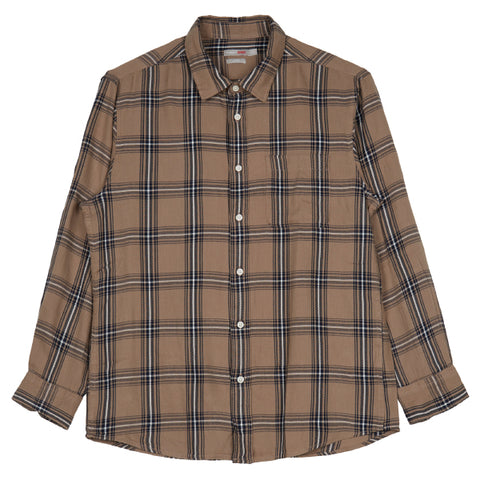 SPAO Man Long Sleeve Flannel Check Shirt SPYC949C11