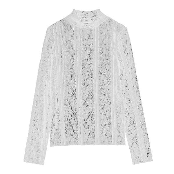 SPAO Woman Long Sleeve Lace Tee SPLWA12G08