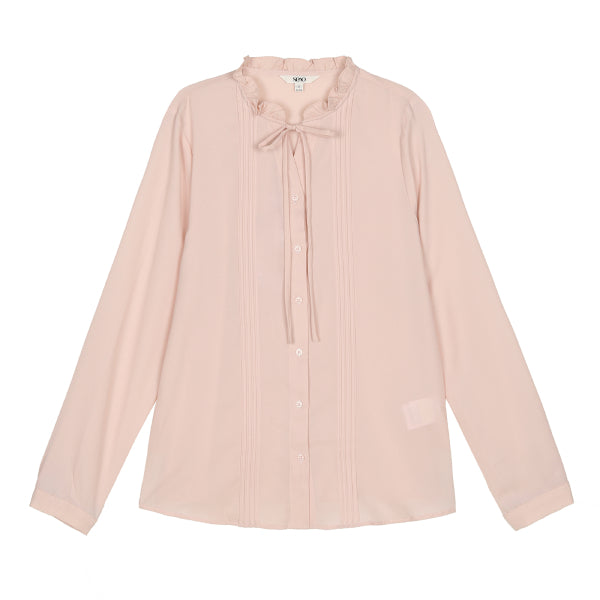 SPAO Woman Long Sleeve High Neck Ribbon Tie Blouse SPBWA12G02