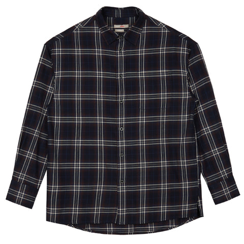 SPAO Man Long Sleeve Cotton Check Shirt SPYC949C13
