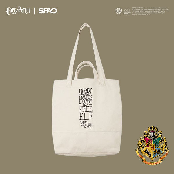 SPAO Unisex Harry Potter Tote Bag SPAK947A62 Ivory