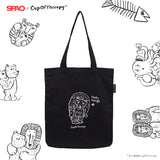 SPAO Unisex Cup of Therapy Tote Bag SPAKA21A90 Black