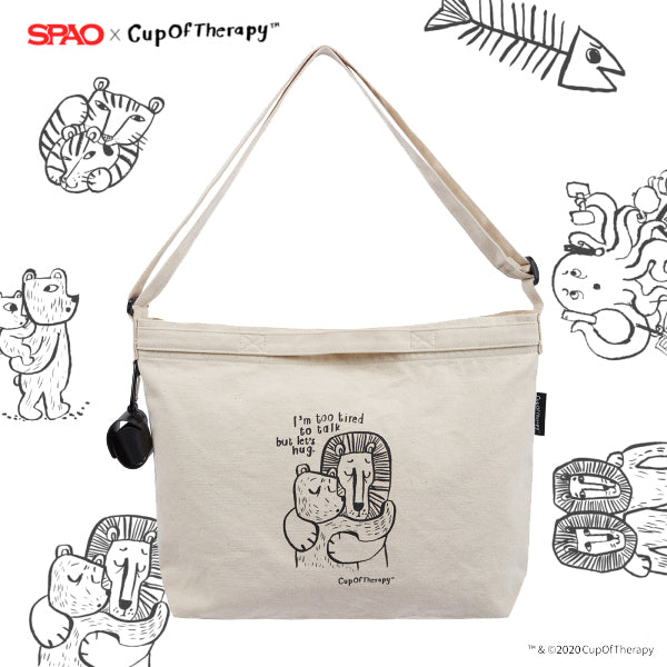 SPAO Unisex Cup of Therapy Cross Bag SPAKA21A91 Ivory