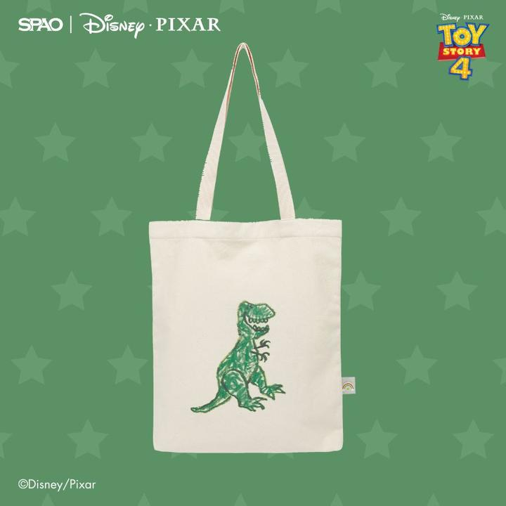 SPAO Unisex Toy Story Tote Bag SPAKA22A52 Green