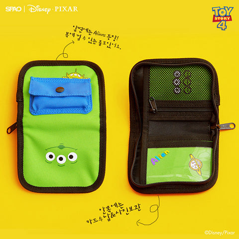 SPAO Unisex Toy Story Wallet SPAKA22A53 Light Green