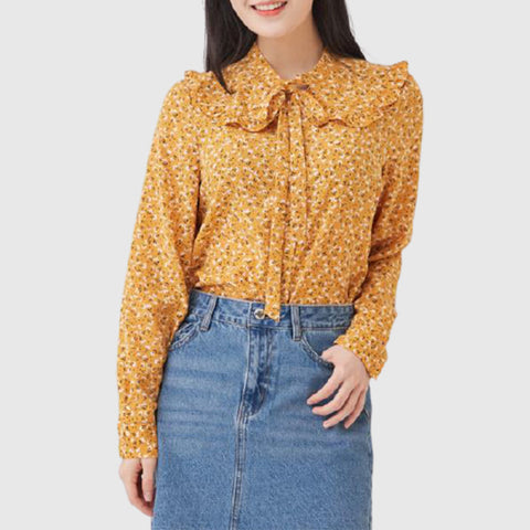 SPAO Woman Long Sleeve Floral Bluse SPBBA12G01