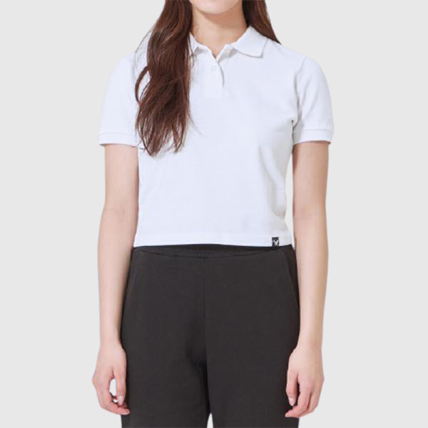 SPAO Women Short Sleeve Crop Collar Tee SPHAA24G28