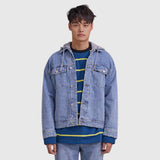 SPAO Man Long Sleeve Hooded Denim Jacket SPJEA23C02