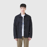 SPAO Men Long Sleeve Linen Work Jacket SPJKA24C22