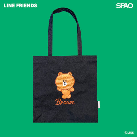 SPAO Unisex Line Friends Tote Bag SPLCA25A02 Black