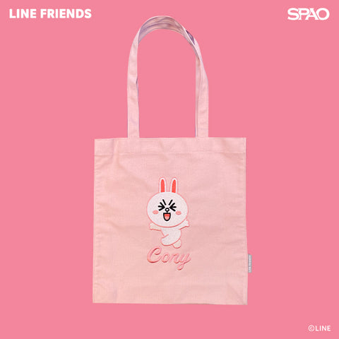 SPAO Unisex Line Friends Tote Bag SPLCA25A02 Light Pink