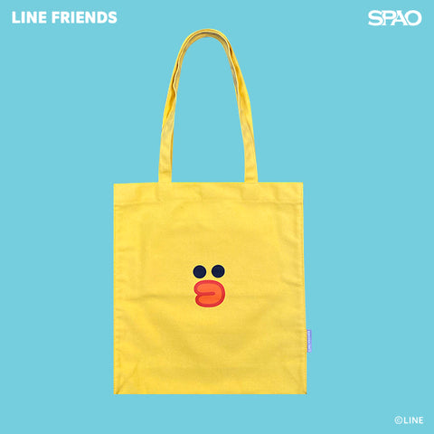 SPAO Unisex Line Friends Tote Bag SPLCA25A02 Yellow