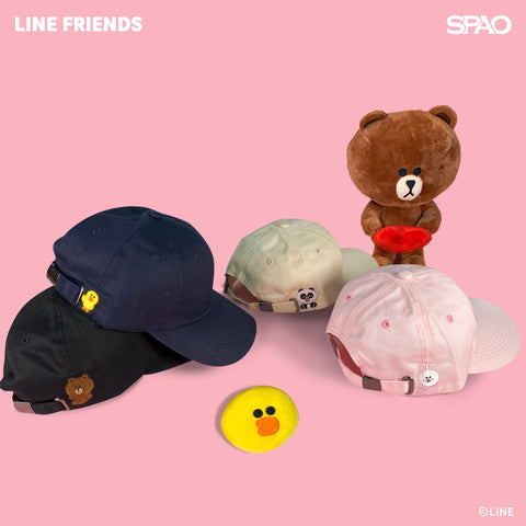 SPAO Unisex Line Friends Cap SPLCA25A03 Light Pink
