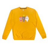 SPAO Unisex Long Sleeve Line Friends Pullover SPLCA25C08 Mustard Yellow