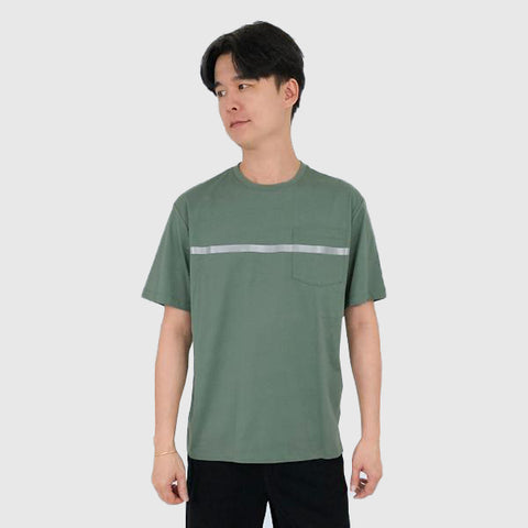 SPAO Men Short Sleeve Reflective Stripe Pocket Tee SPLCA4CC01