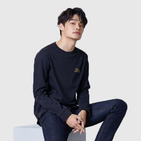 SPAO Man Long Sleeve Letter Tee SPLW949C24