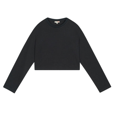 SPAO Women Long Sleeve Oversized Crop Tee SPLWA38G04