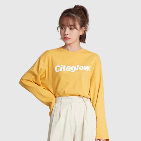 SPAO Women Long Sleeve Overfit Graphic Tee SPLWA4TG90