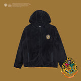 SPAO Unisex Long Sleeve Harry Potter Dormitory Fleece Zip Up Jacket SPMA94VC01 Graphic Black