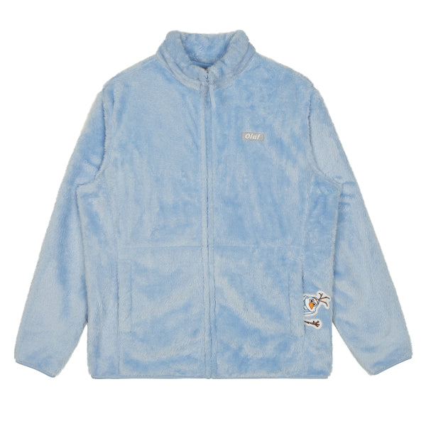 SPAO Unisex Long Sleeve Frozen Fleece Zip Up Jacket SPMAA11C02 Light Blue