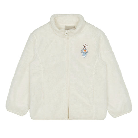 SPAO Kids Long Sleeve Frozen Fleece Zip Up Jacket SPMAA11K03 White