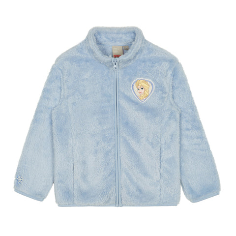 SPAO Kids Long Sleeve Frozen Fleece Zip Up Jacket SPMAA11K03 Light Blue