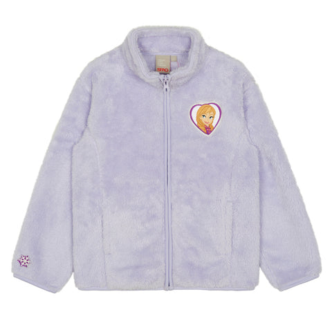 SPAO Kids Long Sleeve Frozen Fleece Zip Up Jacket SPMAA11K03 Light Purple