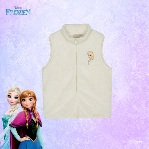 SPAO Kids Sleeveless Frozen Fleece Zip Up Vest SPMAA11K04 Ivory