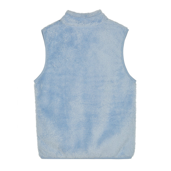 SPAO Kids Sleeveless Frozen Fleece Zip Up Vest SPMAA11K04 Light Blue