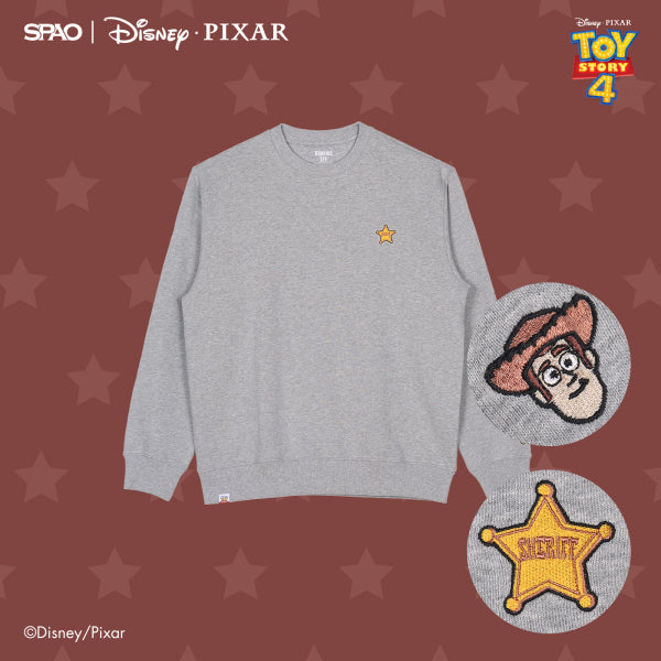 SPAO Unisex Long Sleeve Toy Story Pullover SPMB94TC01 Grey