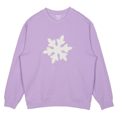SPAO Unisex Long Sleeve Frozen Pullover SPMBA11C01 Light Purple