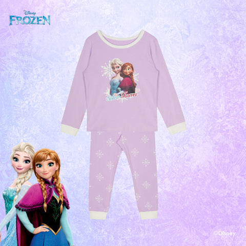 SPAO Kids Long Sleeve Frozen Pyjamas SPMBA11K01 Purple
