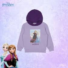 SPAO Kids Long Sleeve Frozen Colour Hoodie SPMBA11K04 Light Purple
