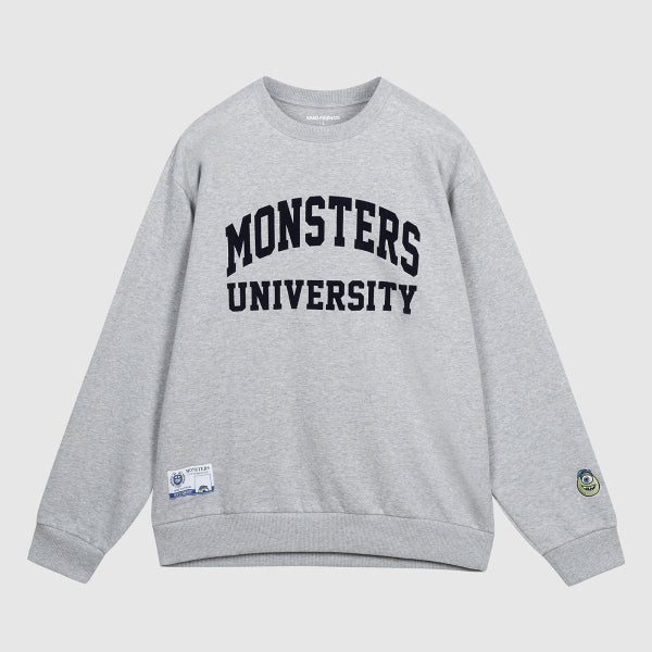 SPAO Unisex Long Sleeve Monsters University Pullover SPMBA49C02 Grey