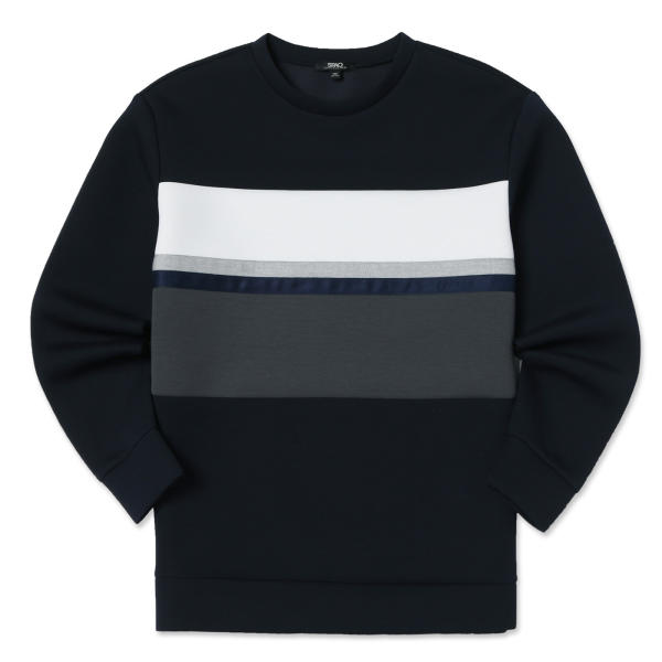 SPAO Men Long Sleeve Color Blocking Pullover SPMW812M02