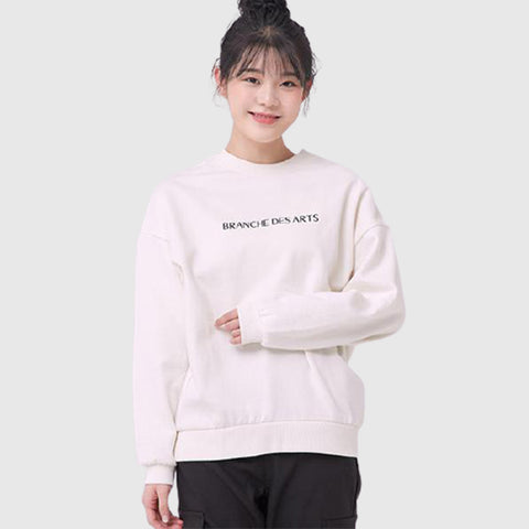 SPAO Woman Long Sleeve Loose Graphic Pullover SPMWA11G06