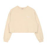 SPAO Women Long Sleeve Crop Stopper Pullover SPMWA23G19