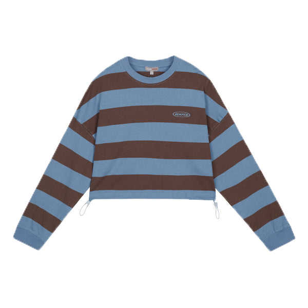 SPAO Women Long Sleeve Stripe Crop Pullover SPMWA38G09
