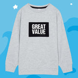 SPAO Kids Long Sleeve Graphic Pullover SPMWA49KU4