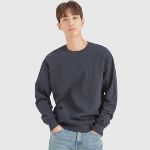 SPAO Men Long Sleeve Brushed Pullover SPMWA4TC11