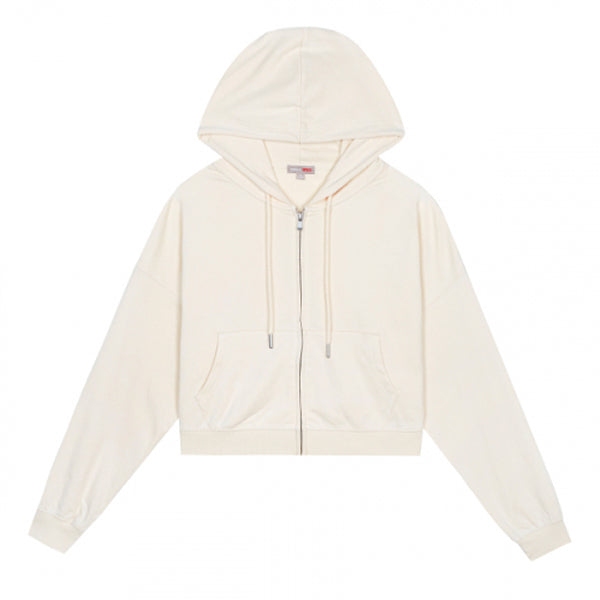 SPAO Women Long Sleeve Crop Hooded Zip Up Jacket SPMZA38G05