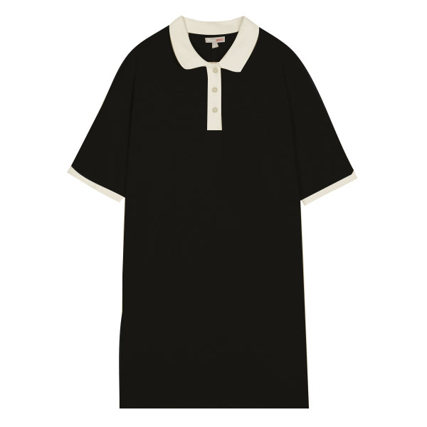 SPAO Women Short Sleeve Loose Collar Dress SPOMA24G26