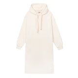 SPAO Women Long Sleeve Hooded Long Dress SPOMA4TG05