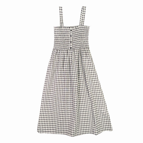 SPAO Women Sleeveless Checked Bustier Dress SPOWA26G01