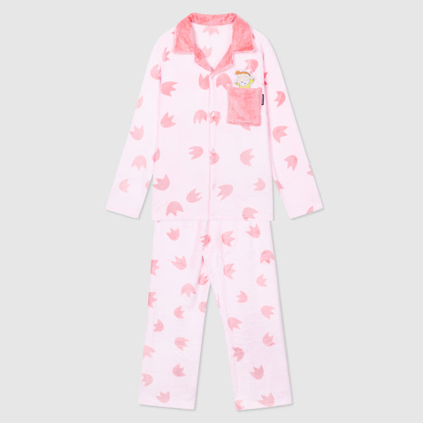 SPAO Unisex Long Sleeve Shinchan Fleece Pyjamas SPPPA4TU08 Pink