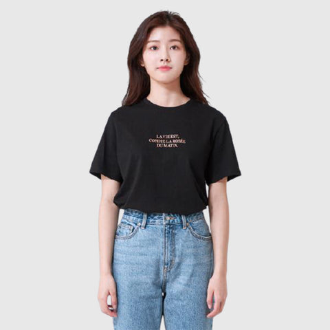 SPAO Women Short Sleeve Graphic Tee SPRPA24G20