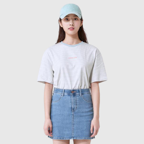 SPAO Women Short Sleeve Striped Tee SPRSA24G24